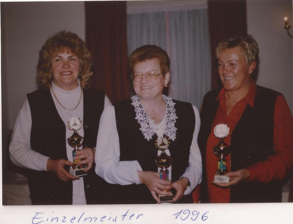 1996 Einzelmeister  Damen