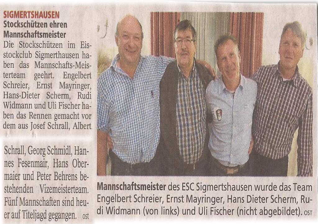 2013-12-17 Stockschützen ehren Mannschaftsmeister