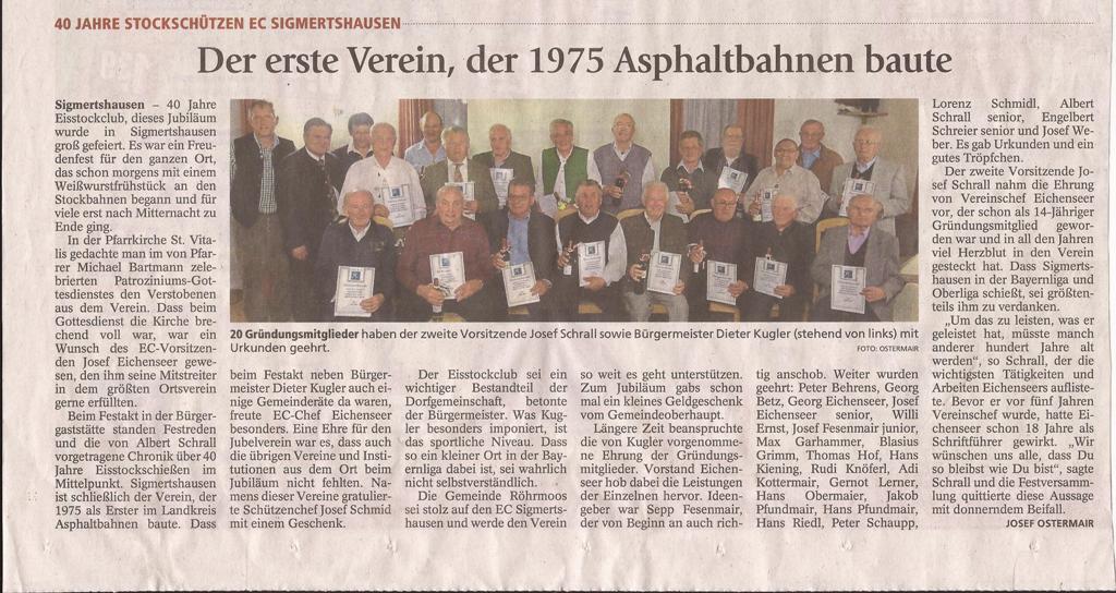 2015 03 04 Der erste Verein,der 1975 Aspaltbahnen baute